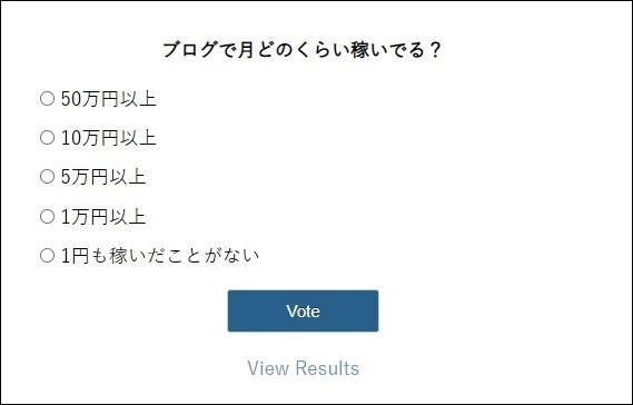 WP-Polls のアンケート画面
