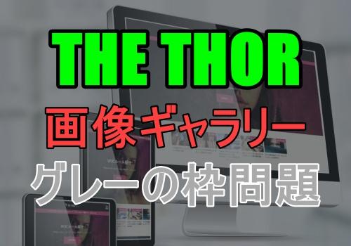 THE THORで画像ギャラリーのデザインが崩れる問題の対処法【グレーの枠削除】